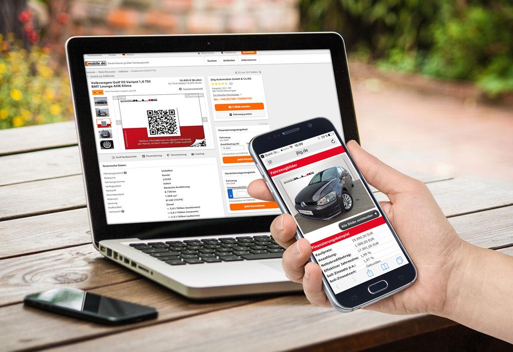 Fahrzeugverwaltung Software QR-Code