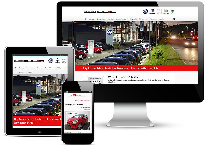 Fahrzeugverwaltung und Autohaus Webseite