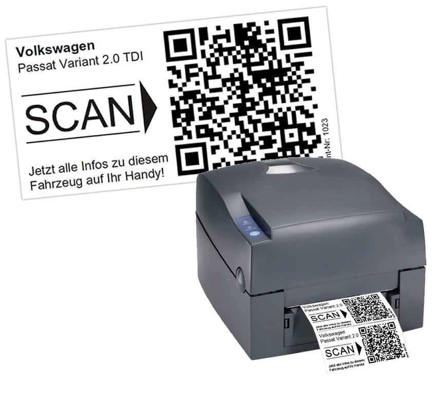 Fahrzeugverwaltung Software QR-Code Drucker